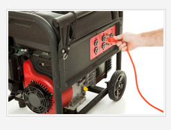 portable generator with a small engine