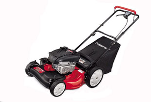 Troy-Bilt Lawn Mower with Briggs and Stratton small engine.